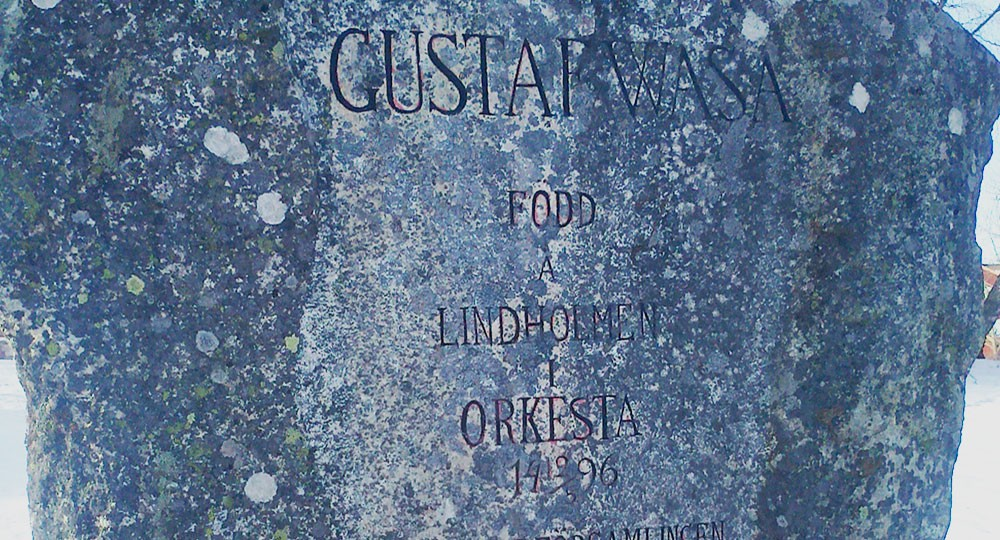 Stone with inscriptions about Gustav Wasa