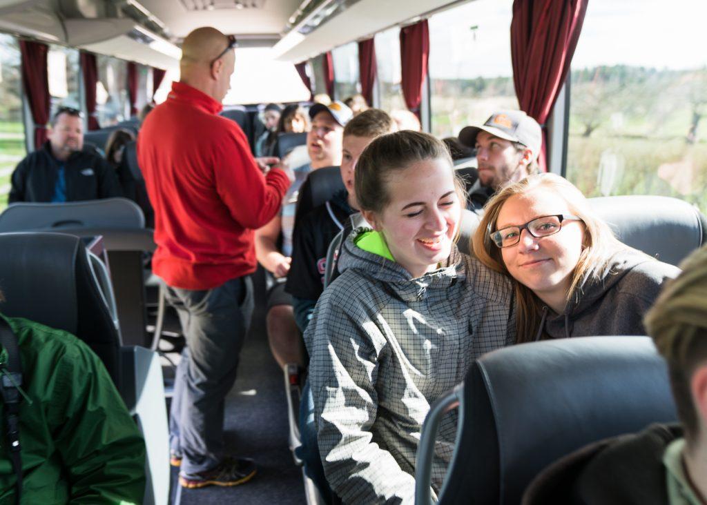 Tourists on bus